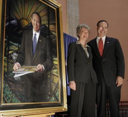 Taft's portrait unveiled at Ohio's Statehouse Rotunda
