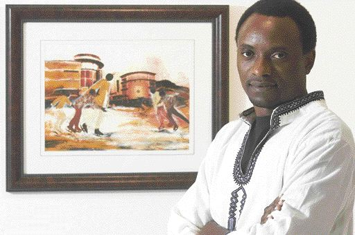 Tanzanian-born artist Hussein Saidi met his Peace Corps volunteer wife Robin while she was stationed in his East African country