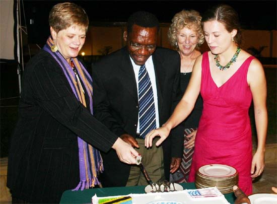 Peace Corps Tanzania celebrates 45th anniversary at the US Ambassador's residence, in Dar es Salaam