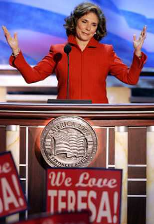 Teresa Heinz Kerry addresses the Democratic National Convention: To me, one of the best faces America has ever projected is the face of a Peace Corps volunteer.