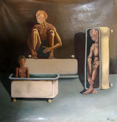 Sierra Leone RPCV Adam Randolph is a self-taught painter who revels in the grotesque