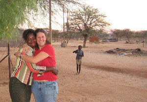 Like many other Peace Corps volunteers, Tina Schuster was was asked to be a teacher when she was posted to Namibia, but there was a chilling undercurrent to the subjects she was assigned-- English and AIDS education
