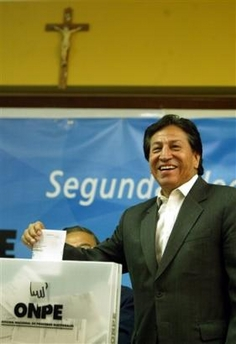 Alan Garcia to succeed Toledo as Peru's President