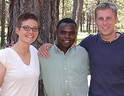 Deb and Tom Hainisch met in Malawi, Africa, where Tom, a Peace Corps volunteer, worked closely with Spiriano Khunguni, a local assistant to the Ministry of Health. Deb was a teacher and the trio became fast friends