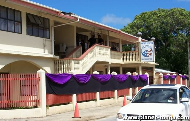 The Headquarter for the US Peace Corp joined the national mourning for the death of H.M. King Taufa'ahau IV