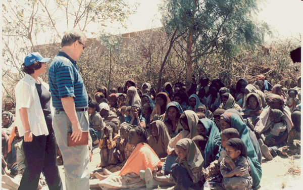 RPCV Tony Hall, the U.S. ambassador to the U.N. food programs in Rome, is touring Sudan's embattled Darfur region to witness first-hand the human suffering caused by 21 months of conflict, and check on relief efforts.