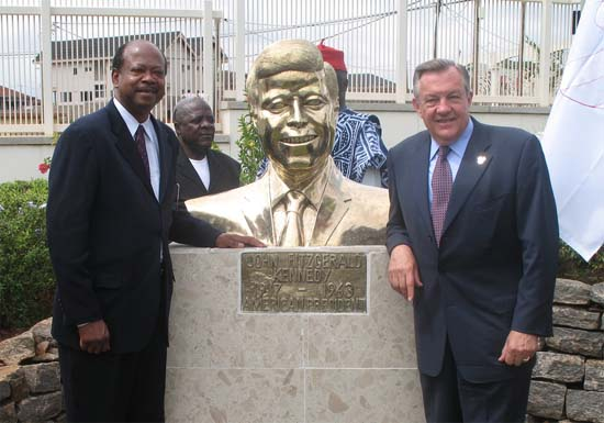 Peace Corps Director Ronald A. Tschetters Remarks at the JF Kennedy Bust Unveiling Ceremony