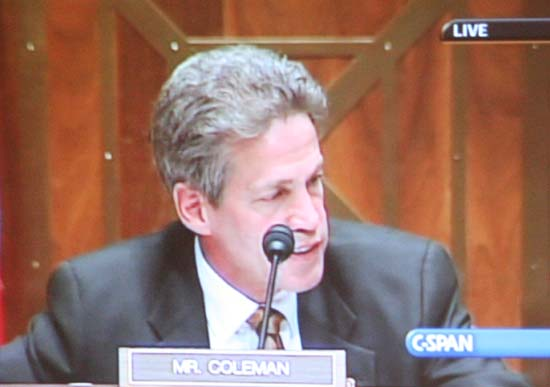 Senator Norm Coleman chaired a Senate Foreign Relations Committee hearing on the nomination of Minnesotan Ronald Tschetter to serve as the U.S. Director of the Peace Corps