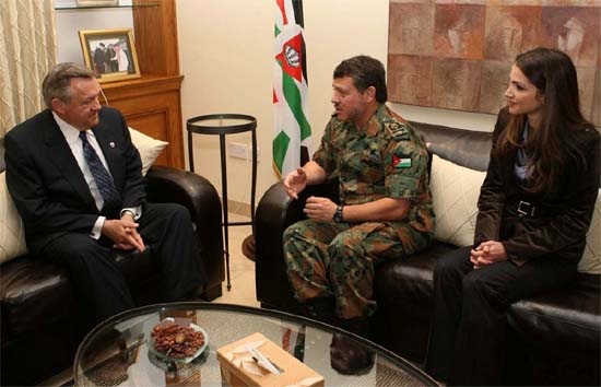 King and Queen of Jordan Meet Peace Corps Director Ron Tschetter