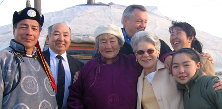 Tschetter visits Volunteers in Mongolia