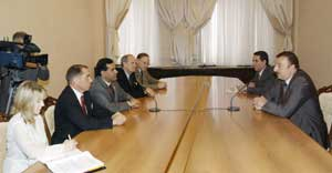 President of Azerbaijan Republic Ilham Aliyev received the delegation led by director of the US Peace Corps Gaddy Vasquez.