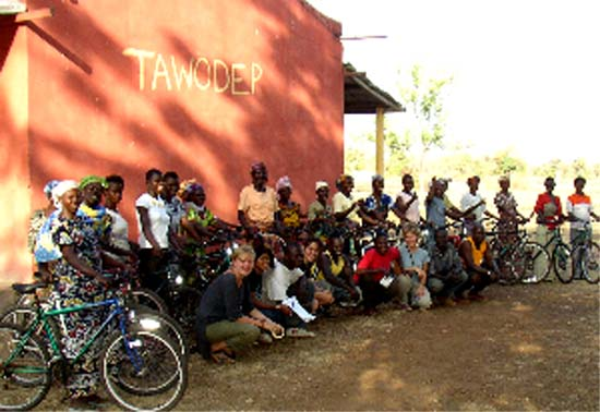 Congo Kinshasa, Ivory coast, and Gabon RPCV David Peckham has shipped over 17,000 bicylces to Ghana with the Village Bicycle Project