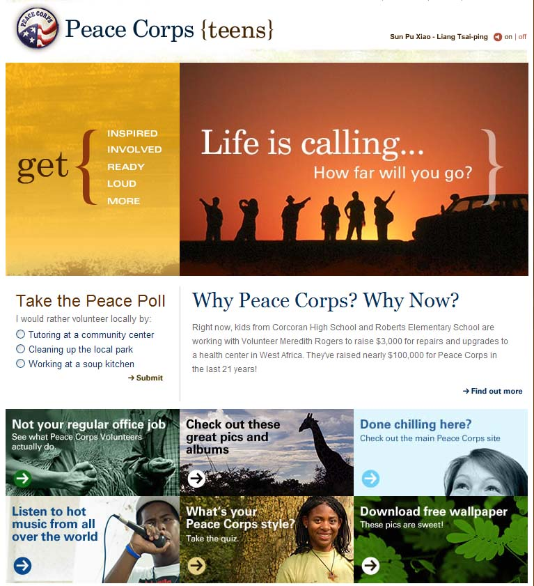 Peace Corps unveils new web site for teens