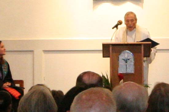 Reverend Lou Mitchell gave the Opening Words and Prayer of Thanksgiving.