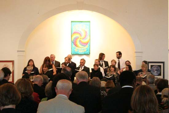 "The choir and congregation sang ""Gather the Spirit."""