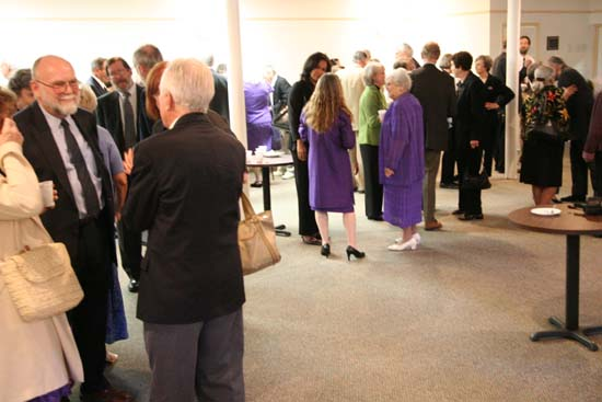 The Wiggins famiy invited all the guests to stay for light refreshments in the Fellowship Hall after the Memorial Service.