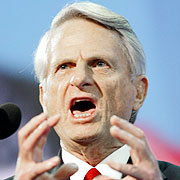 Zell Miller was giving away about 20 years and 90 pounds to Chris Matthews. But Miller&#39;s crazed stare - he looked like Granny Clampett training her shotgun on a stray varmint - was enough to cause even the overbearing Matthews to back off