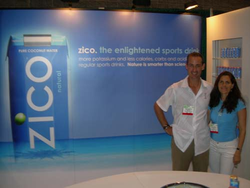 Costa Rica RPCV Mark Rampolla sells Zico - Coconut water imported from Brazil and marketed as a high-potassium, sugar-free alternative to Gatorade