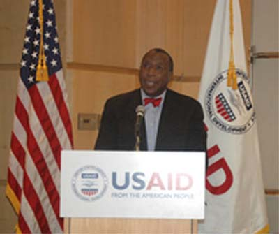 Haiti RPCV Alonzo L. Fulgham, Acting Administrator, USAID, speaks at USAID International Women's Day Celebration
