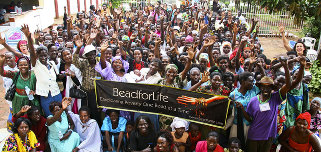 Nicholas Kristoff writes: India RPCV Torkin Wakefield worked with women in Uganda to create Bead for Life