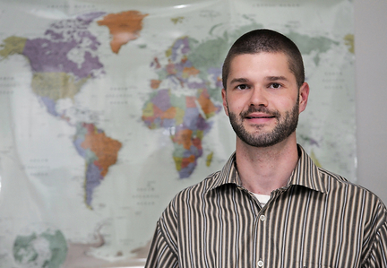 "Panama RPCV Ben Grostic, son of Sierra Leone RPCV John Grostic, has turned his back on the corporate world, even though he has a degree in architecture from the University of Michigan, for what he calls a ""more rewarding"" call into the nonprofit sector"