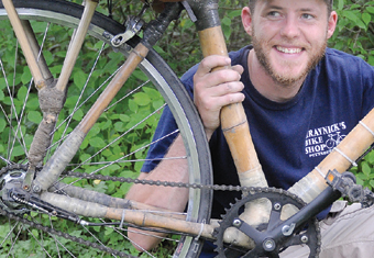 Zambia RPCV Ben Masters makes promotes bamboo bicycles as a viable form of transportation