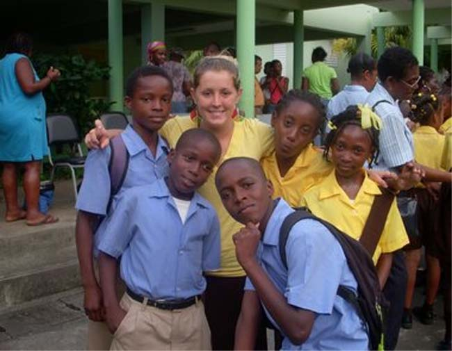 Bethany Jenkins was assigned to the village of Byera Hill, a small farming community in Saint Vincent and the Grenadines, located in the Windward Islands in the Caribbean