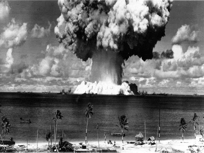 Bikini atoll bomb tests