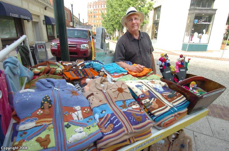 Bob Shepherd, a former Peace Corps volunteer-turned-street-vendor, makes annual trips to a village in Ecuador to visit the families who carve tagua palm tree nuts into the intricate forms of owls, turtles and other creatures