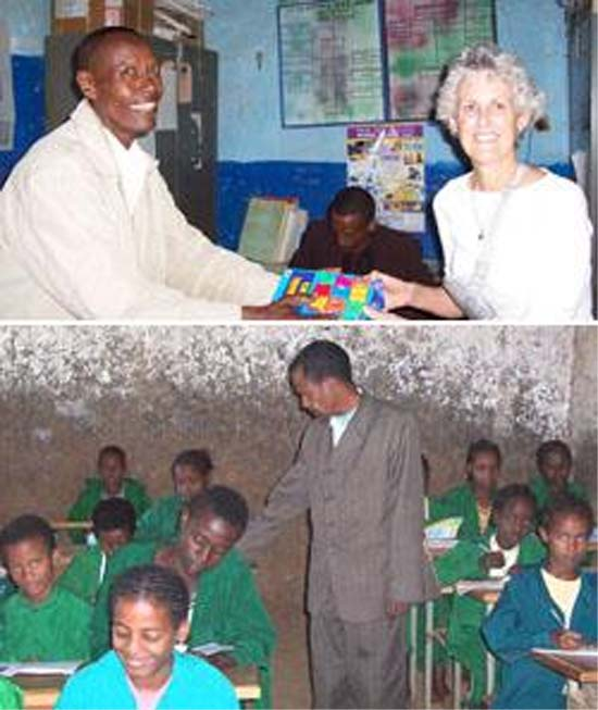 RPCV Brenda Commandeur on mission to aid school in Ethiopia