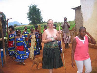 Peace Corps Volunteer Justine's Swazi Adventures writes: Topless Group 2 PCV sets unrealistic expectations for Swazi men