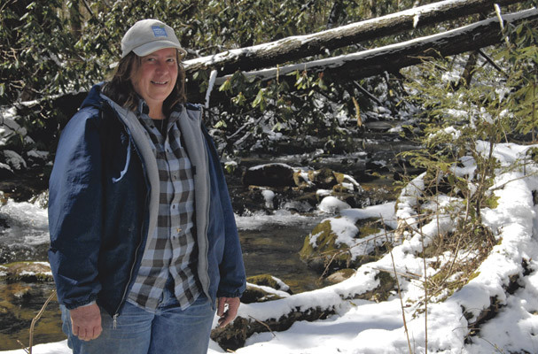 For more than a month, Tunisia RPCV Brenda Warner has been making almost-daily trips into Rocky Fork to survey the plant life found on the 10,000-acre tract that was recently acquired by The Conservation Fund and U.S. Forest Service