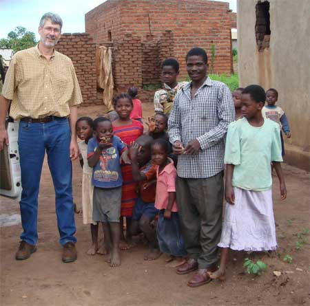 Brian Connors works for the Peace Corps in Malawi helping local farmers and businesses