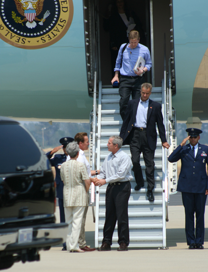 Tony D'Souza writes: Bush visits as California burns