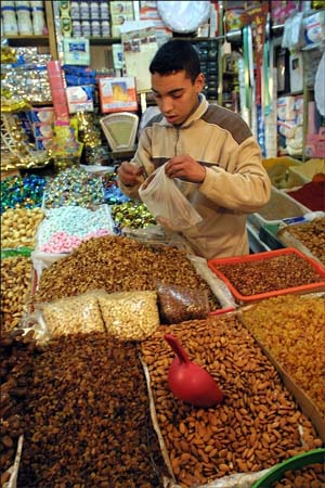 Peace Corps Volunteer Scott McKenzie writes: candy bars and other sweets that are found here in Morocco