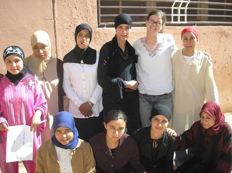 Cara Lane served as a Peace Corps Volunteer in Morocco from  2005 to 2007