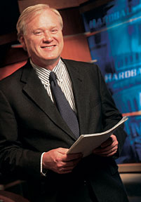 Chris Matthews, the host of MSNBC's Hardball, is pretty much the same off-camera as he is during the show