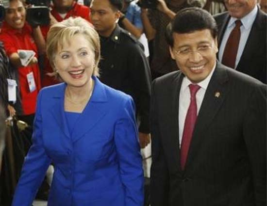 Secretary of State Hillary Clinton announces Peace Corps operations  expected to resume in Indonesia after a long absence