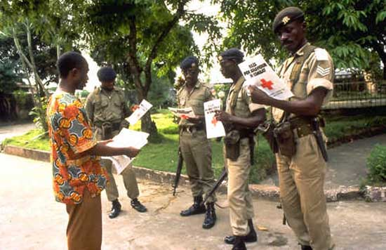1987: 	Larry Dominguez served as a Peace Corps Volunteer in Liberia in Pleebo beginning in 1987