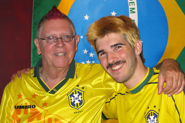 Danny Dunbar has been a fan of Brazil soccer since his time in the Peace Corps and he passed on that passion to his son Ian