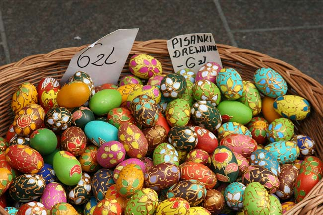 Tracy Tallman lived for two years in Poland while serving with the Peace Corps. She bought hundreds of hand-painted wooden Russian and Polish Easter eggs in a Russian market in Warsaw