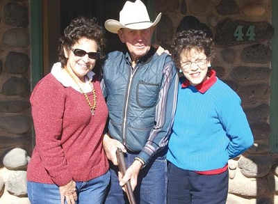 "Ethiopia RPCV Gabrielle ""Gaby"" Dolphin and Micronesia RPCV Jacqueline ""Marie"" Dolphin enjoyed an unplanned reunion with former Sheriff's Deputy Tap Parsons, two weeks ago, when they stopped in to thank him for all he did after an ill-fated hiking trip back in 1963"
