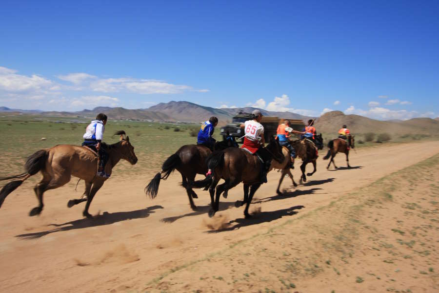 Peace Corps Volunteer Kara Estep is working with a local agency called the Department for Children to provide protective gear for the riders in Mongolia