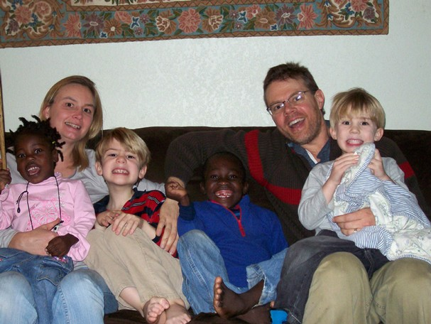 Russia RPCV Janelle and Ken Howes  have adopted Evelyne and Venor from an orphanage in Haiti