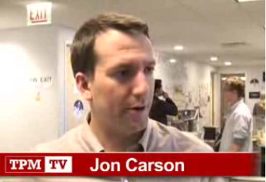 Jon Carson has landed a post in the White House not commonly held by a top-level political operative: chief of staff at the Council on Environmental Quality, where he is on the front lines in the battle against global warming