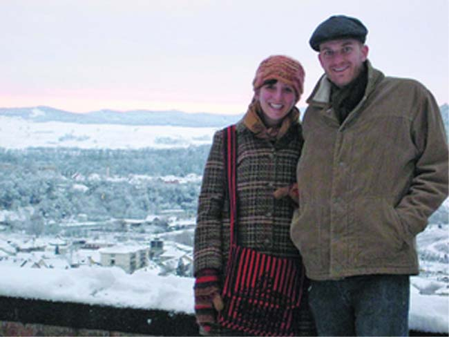 Joseph Martin along with his wife Liz Monk are serving as members of the Peace Corps in Transylvania in Romania