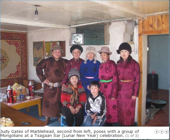 Judy Gates, 67, a widow with two grown children and grandchildren, went to Mongolia as a Peace Corps volunteer in 2008