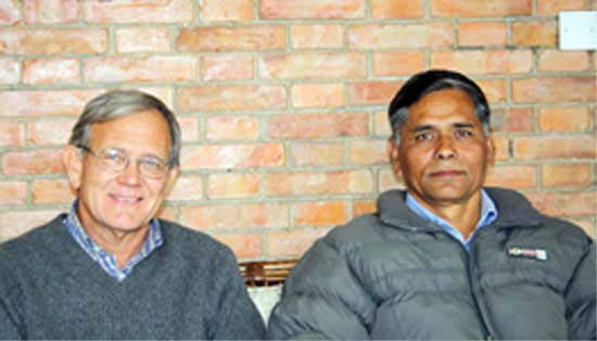 RPCV Larry Robertson is Chairman of the National Spiritual Assembly of the Baha'is in Nepal