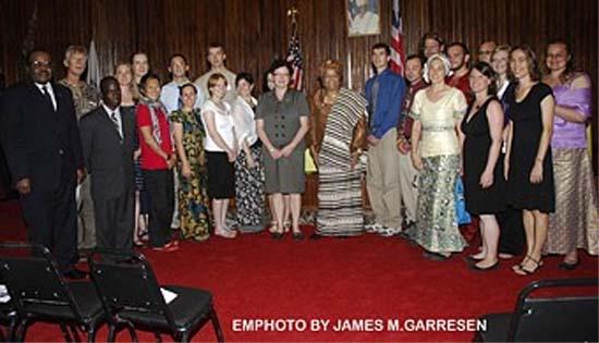 President Sirleaf Swears in 20 U.S. Peace Corps Volunteers