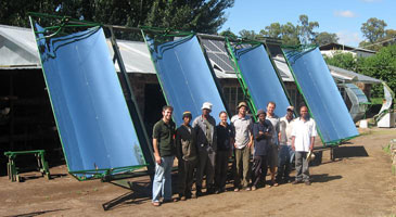 Lesotho RPCV Matt Orosz builds prototypes of a solar thermal power system that he designed